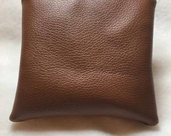 Tan Leatherette coin purse ,