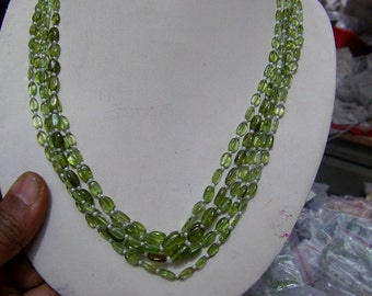 1 Strand  Perridote  Natural Round Beads 15'' 3X5.   to 6X9,   MM,