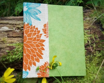 Garden Book, journal, blank book, hand made book, hand made journal,