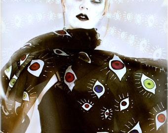 Eyes scarf - surrealist fashion