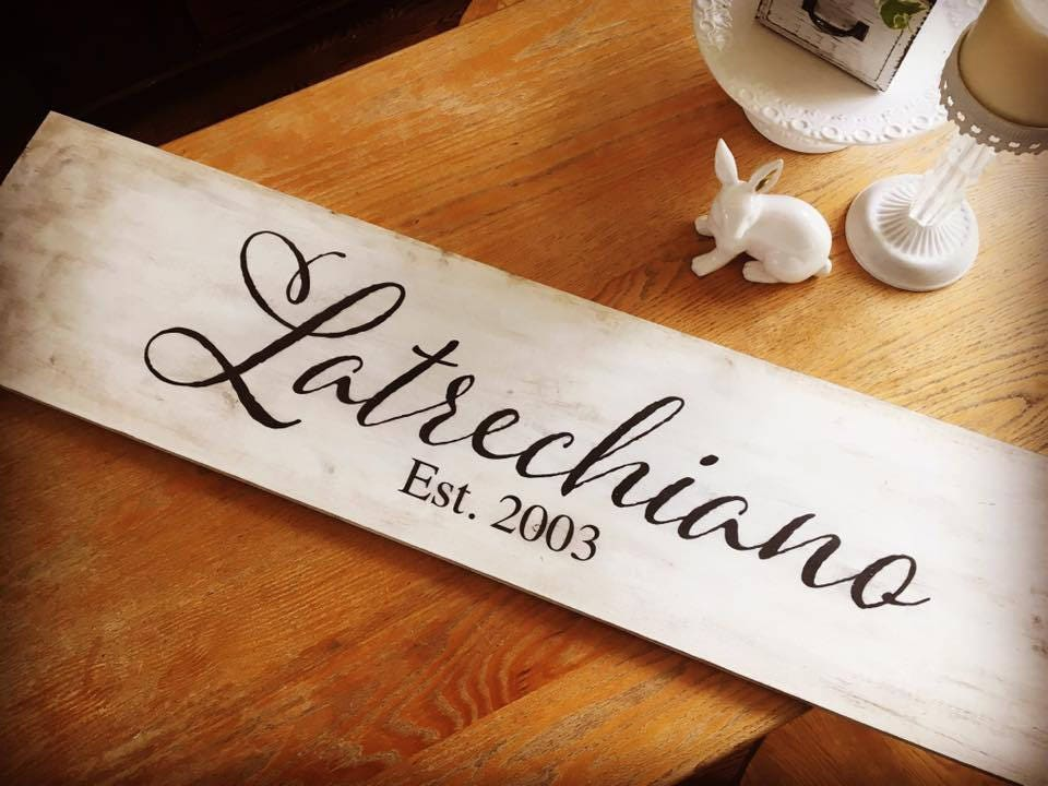 Last Name Rustic Wooden S...