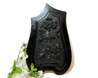 Antique Mahogany Carved Architectural Furniture Panel Musical Instruments