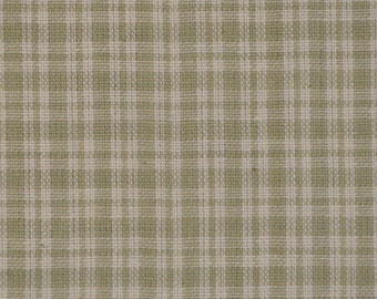 Plaid Material | Homespun Material | Cotton Material | Quilt Material | Craft Material | Home Decor Material | Small Grey Plaid Material