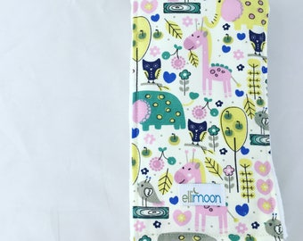 30% off! Boutique Burp Cloth in Pink Woodlands