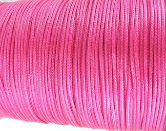 Cordon of 5 meters to 2 mm diameter jewelry pink