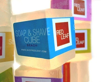 Free Shipping Vegan Shave Soap Cubes, Shaving Soap For Sensitive Skin Available In Unscented