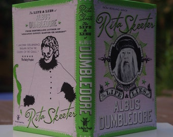 Rita Skeeter - The Life & Lie of Albus Dumbledore Fanmade Harry Potter Sketchbook [A6 Dimension - Blank Pages]