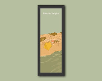 Moonrise Kingdom framed limited edition 12x4 inches print
