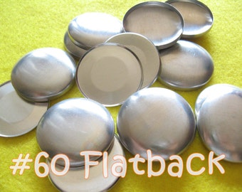 25 Covered Buttons FLAT BACKS - 1 1/2 inches - Size 60  flat backs no loops covered buttons notion supplies diy refill