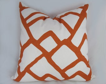 Schumacher-  Zimba - Decorative Pillow Cushion Cover - Accent Pillow - Throw Pillow  - Orange