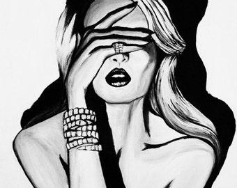 Smoke Screen Fashion Illustration - on SALE