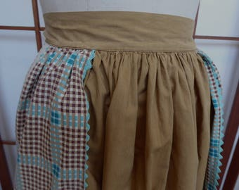Vintage Cotton Potholder Half Apron