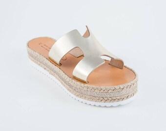 Handmade Greek Espadrilles Sandals