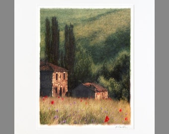 Any image matted to 20x24 (Poppies and Cypress shown)