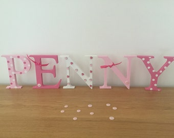 Personalised Large Freestanding Letters