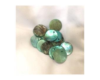 Green Shell Flats 16 mm Round