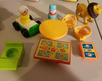 Vintage Table Chairs Grandma Diving Board Payphone Traffic Light Fisher Price Little People