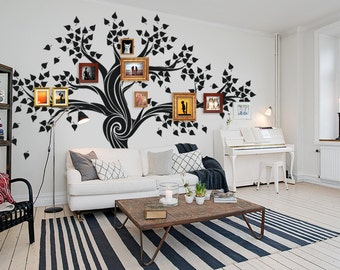 Tree wall decal / Family tree wall decal / Wall decal tree / Large wall decals / Black tree wall decal / Tree decal