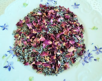 ROSES & FRENCH LAVENDER, Wedding Confetti, Sachets, Potpourri, Shabby Chic Wedding, Ecofriendly Wedding, Biodegradable Petals