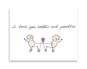 Poodle Greeting Card / Funny Poodle Card / Poodles / Funny Card / Dog Mom / Dog Person / Love Card / Misha Marie Art