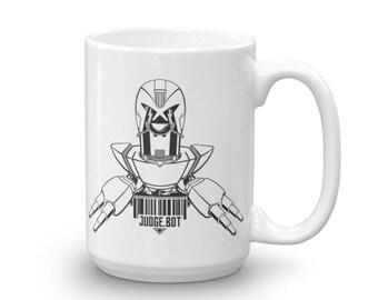 Judge Dredd Judge.Bot Mug