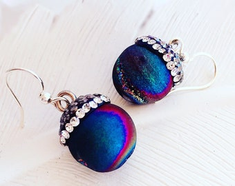 Druzy Earrings - Purple Earrings - DREAM Earrings - Enchanted Dreams Collection
