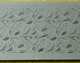 Rollable LEAVES and TENDRILS  Fineline Texture Tile  RTT-114