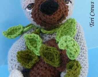 Crochet Pattern Sloth by Teri Crews Instant Download PDF Format Crochet Toy Pattern