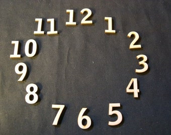 Wood Clock Numbers Set  1/2 Inch Laser Cut