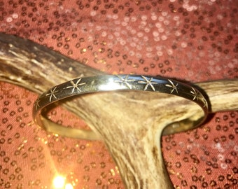 Etched Mexican Silver bangle