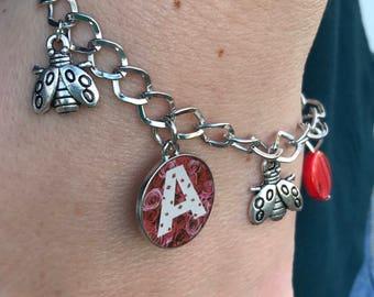 Charm Bracelet, Personalized Bracelet, Bracelets for Women, Ladybug Charm, Bracelet Charms, Braclet Beads, Gift for Her, Gift for Girls