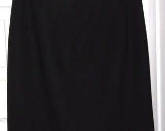 Moschery Black Wool Pencil Skirt Size 6