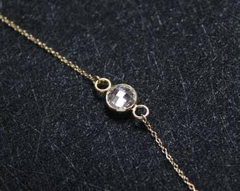 14k gold filled cz necklace