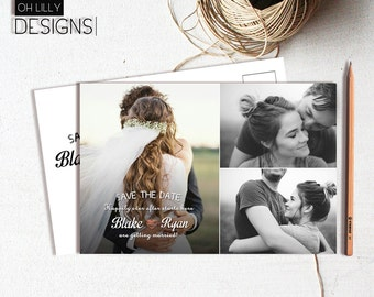 Save the Date Postcard Printable, Save the Date Postcard, Save the Date Card, Digital File, Photo Save the Date, Wedding Card