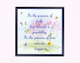 In the Presence of Faith - Instant Downloadable Art Print Digital Wall Art Printable Inspirational Quote Art Home Decor