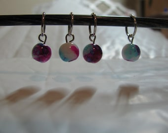 Set of 4 Watercolor Stitch Markers