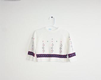 Vintage White Baby Sweater