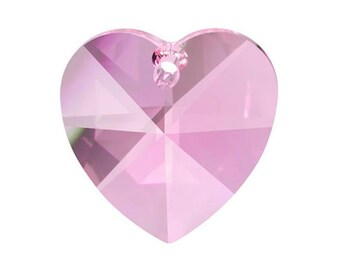 5 Pink 28mm Heart Chandelier Crystal Shabby Chic