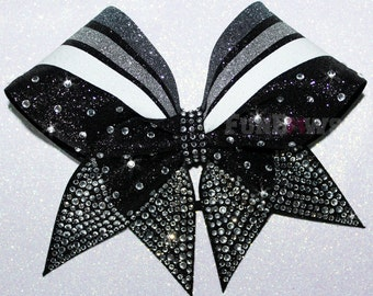 Beautiful New Glitter and Rhinestone  Cheer  bow by FunBows - WOW - Customize this in your colors!