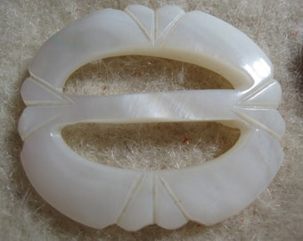 Carved Mother of Pearl Small Buckles Shell Buckle  Buckle Sliders  free shipping in u s a