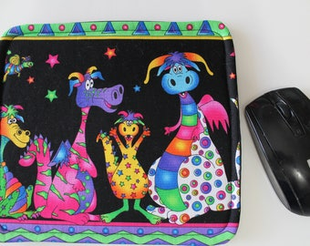 Mousepad,  Mouse Pad,  Custom Mousepad, Whimsical Dragon Print