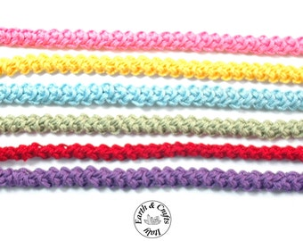 """Crocheted bracelets """"lanyard Romanian"""" style (#178)"""
