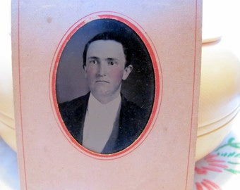 Vintage tin type photo of a nice looking young man