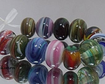 Wave Orphans, Artisan Lampwork Glass Beads, SRA, UK