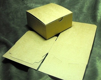 Mothers Day Sale 20 Pack Kraft Brown Paper Tuck Top Style Packaging Retail Gift Boxes 4X4X4 Inch Size