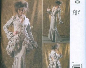 McCalls 6770 Victorian Style Steam Punk Sewing Pattern Costume Sizes 4-6-8-10