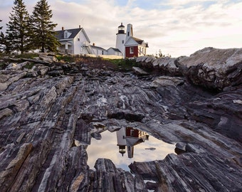 Lighthouse Pictures, Pemaquid Point, Coastal Themed Cottage, Wall Decor Master Bedroom, Nature Photography, Maine Coastal Photography