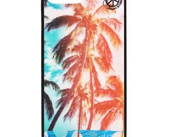 NEW iPhone 8/8+ Case, Rainbow Palms HI, Best Seller, Hawaii, Aloha, Beach, Surf Art, Tropical, Ocean, Art, black case color, Apple iPhone