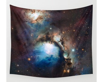 Space Tapestry, Star Tapestry, Wall Hanging, Photo Tapestry, Modern Tapestry, Wall Tapestry, Large Size Wall Art, Reflection Nebula in Orion