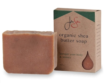Natural Organic Black Raspberry Vanilla Soap Bar - Handmade with Shea Butter